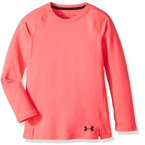 UnderArmour Girls Fitted ColdGear Coral Longsleeve